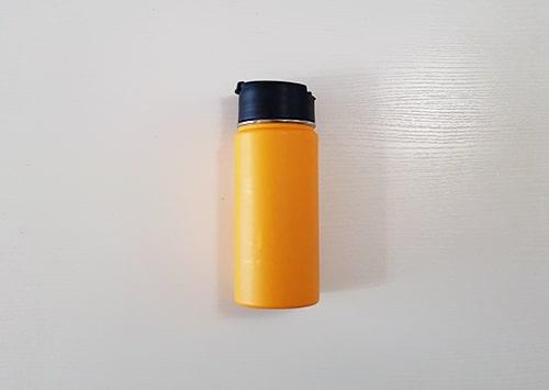 Reusable water bottle or tea mug to reduce waste.